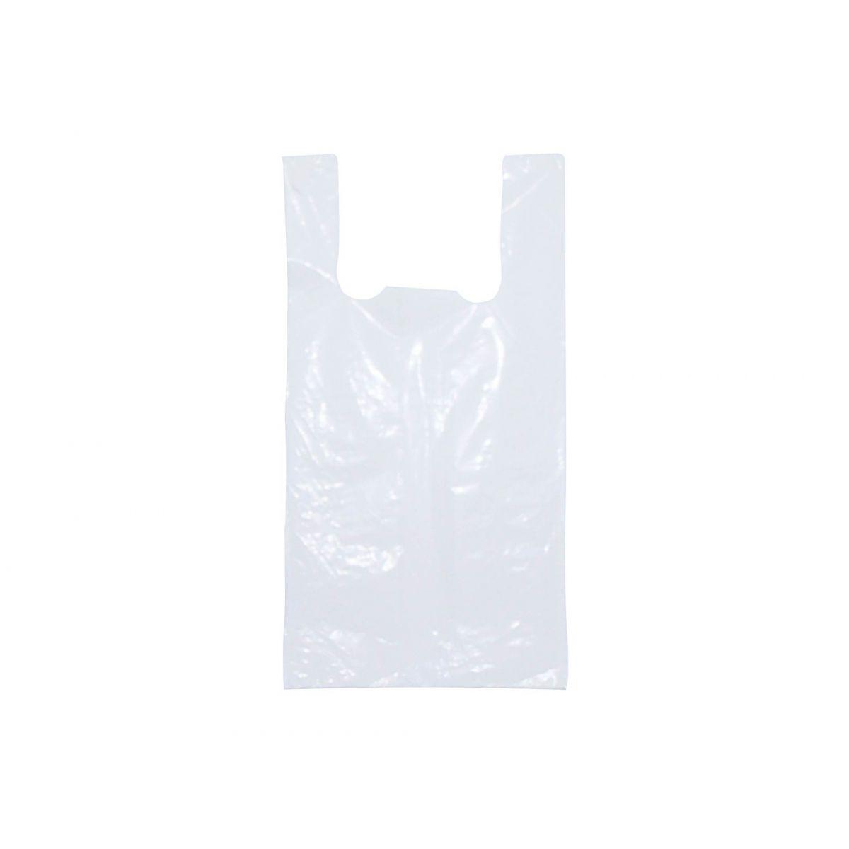 Sacola plástica Branca - 43x60cm (espessura fina)- Pacote 1000 unid