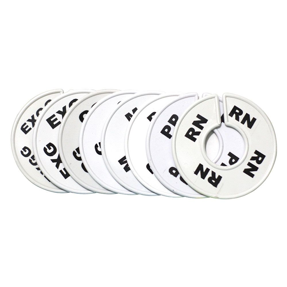 Separador de Arara para Roupas - Letras RN, PP, P, M, G, GG, EXG e EXGG - 8 Unid (Branco)