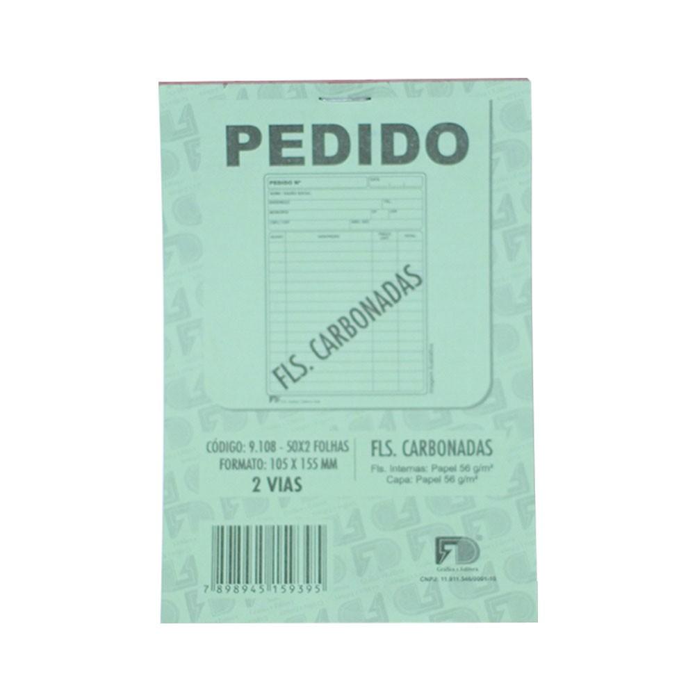 Talão de Pedido Carbonado - 10,5x15,5cm - Com 50 Folhas (5 Unidades) (Pacote Total 250 folhas)