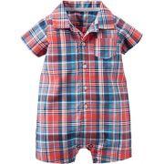 Banho de Sol Carters Camisa Xadrez Romper