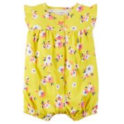 Banho de Sol Carters Floral Amarelo Romper