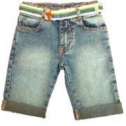 Bermuda Jeans com cinto Gijo Kids