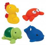 Bichinhos para Banho Buba Animais Marinhos com 4 unidades
