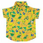 Camisa Dinossauros Laranja Maria Cresceu