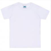 Camiseta Básica Branca Menino Bicho Bagunça