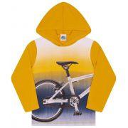 Camiseta Bike com Capuz Mostarda Bicho Bagunça