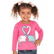 Camiseta Dino Pink Bicho Bagunça