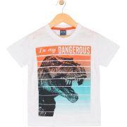 Camiseta Dino Rex Branca TileeSul