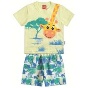 Conjunto Menino Kyly Girafa Amarela