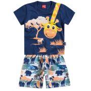Conjunto Menino Kyly Girafa Azul