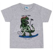 Camiseta Mescla Dinossauro Bicho Bagunça