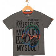 Camiseta Music Cinza TileeSul