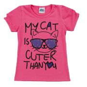 Camiseta My Cat Rosa Bicho Bagunça