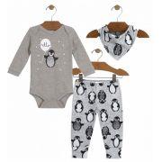 Conjunto Bebê Menino Pinguim Up Baby