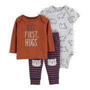 Conjunto Carter's 3 peças Hugs