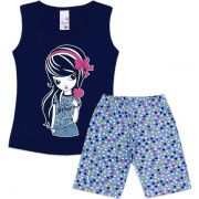 Conjunto Infantil I Love Candy Analê