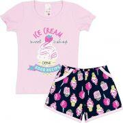 Conjunto Infantil Ice Cream Rosa Analê
