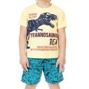 Conjunto infantil T-Rex Amarelo