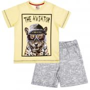 Conjunto Infantil The Aviator Amarelo