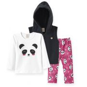 Conjunto Panda Pingo Lelê Menina