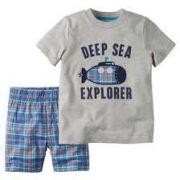 Short e Camiseta Carters Verão Submarino