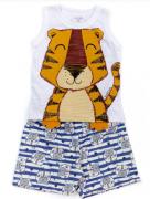 Conjunto Tigre Branco TileeSul