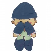 Kit Bebe touca, luva e meia Hug Baby Menino