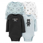 Kit Body Carter's Menino Manga Longa Baby Bear