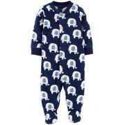 Macacão Fleece Carter's Elefantinhos