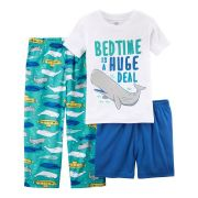 Pijama Carter's 3 Peças Baleia