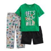 Pijama Carter's 3 Peças Wild