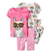 Pijama Carter's 4 peças Cachorrinho