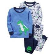 Pijama Carter's 4 Peças Dinossauro