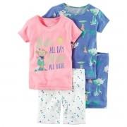 Pijama Carter's 4 peças Macaquinha