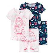 Pijama Carter's 4 peças Princesa