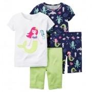 Pijama Carter's 4 peças Sereia