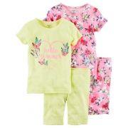 Pijama Carter's 4 peças Tropical
