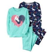 Pijama Carter's 4 Peças Unicórnio