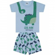 Pijama Cool Dude Bicho Bagunça Azul