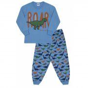 Pijama Dino Azul Bicho Bagunça