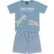 Pijama Dino Snore Azul Kiko e Kika