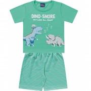 Pijama Dino Snore Verde Kiko e Kika