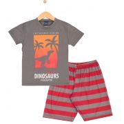 Pijama Dinosaurs Cinza TileeSul