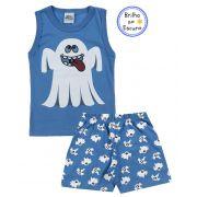 Pijama Fantasminha Azul Bicho Bagunça