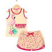 Pijama Flamingo Amarelo TileeSul