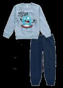 Pijama Flanelado Malwee Alien Azul
