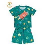 Pijama Kyly Anti-Mosquito Brilha no Escuro Foguete