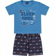Pijama SLEEP HARD Azul Kiko e Kika