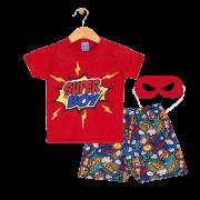 Pijama Super Boy Vermelho TileeSul