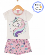 Pijama Unicórnio Rosa TileeSul